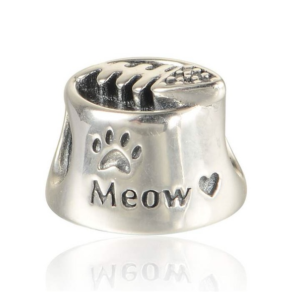 8b6a0af98 Pandora Jewelry | Sterling Silver Charm Meow Cat Bowl | Poshmark